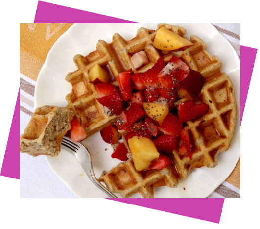 Desayuno Fitness-waffles-avena