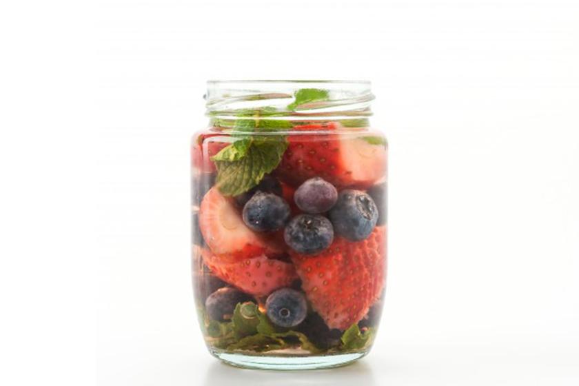 Infusiones de frutas: Arándanos, fresa y menta