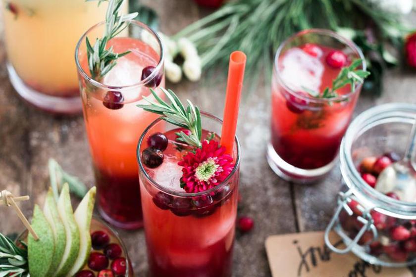 Infusiones de frutas; cerezas, lavanda y fresa o manzana