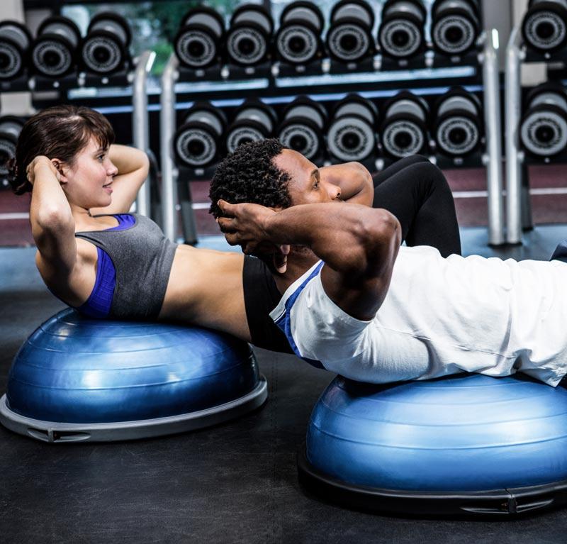 Entrenamiento con bosu abdominales