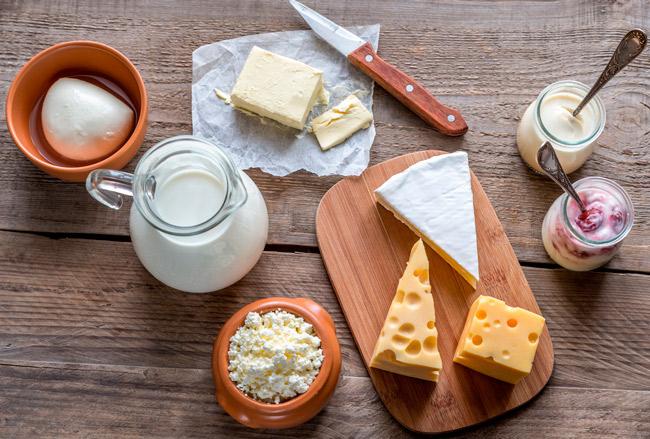 diferentes tipos de lacteos