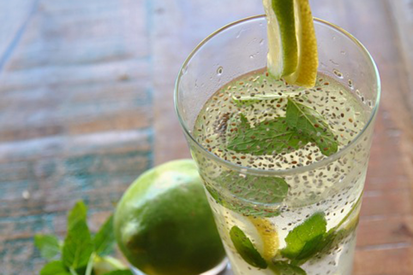 Infusiones de frutas: Lima, limón y chía
