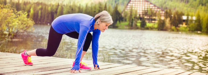 Mujer mayor running