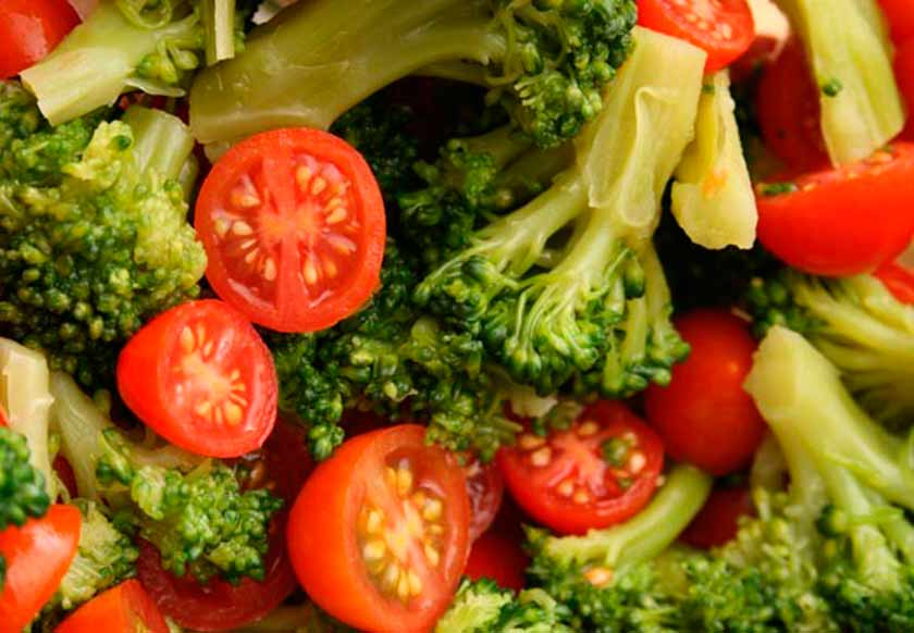 Brócoli y tomate