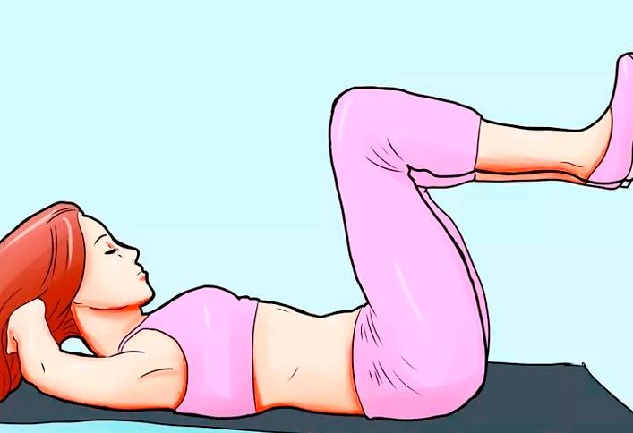 cómo conseguir abdominales piernas elevadas