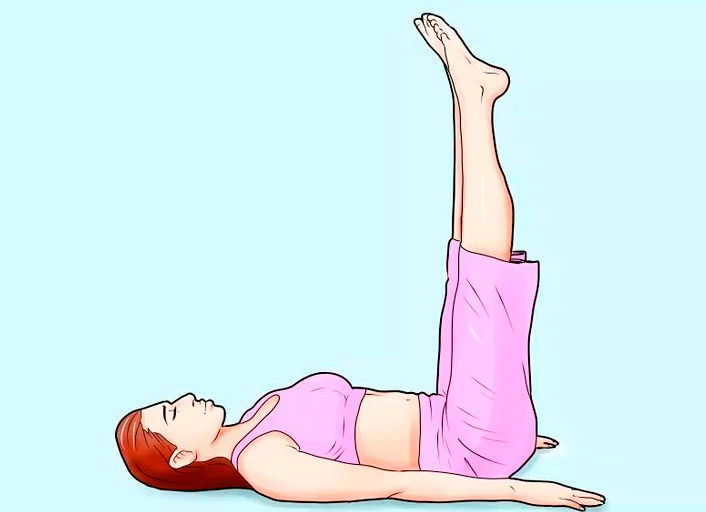 cómo conseguir abdominales elevación piernas 90 grados