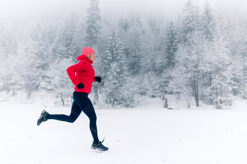 Correr con frío mujer