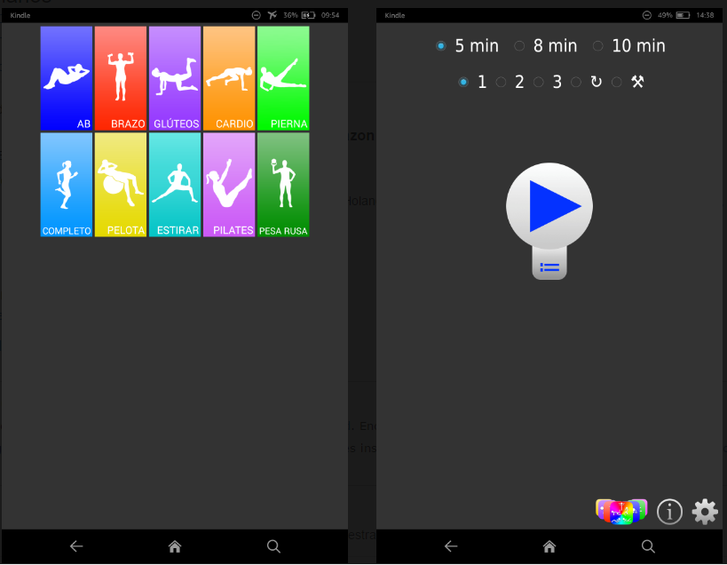pantallas aplicación pantallas diarios