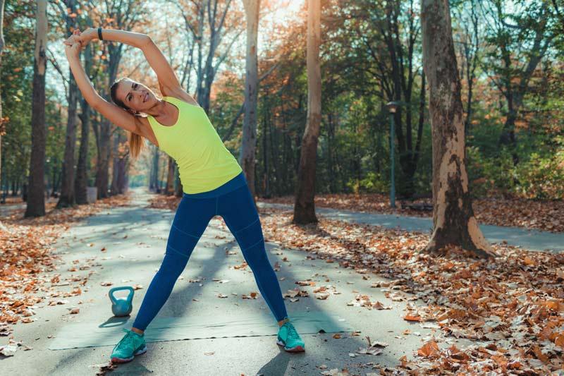 Tabla de estiramientos para antes y después de entrenar