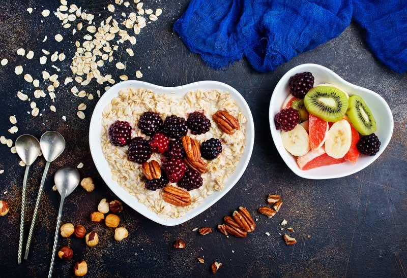 Desayuno sano y equilibrado porridge