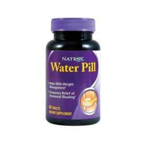 NATROL WATER PILL, suplemento diurético para la retención de líquidos.